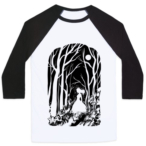 Ghost In The Woods Baseball Tee
