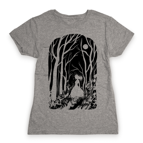Ghost In The Woods Womens T-Shirt