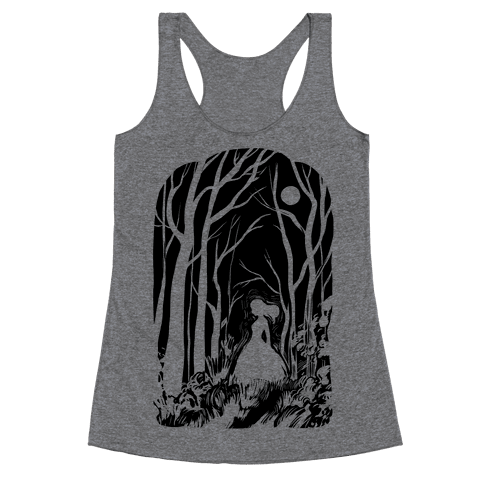Ghost In The Woods Racerback Tank Top