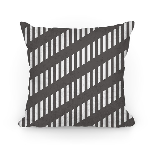 Black and White Diagonal and Vertical Pillow