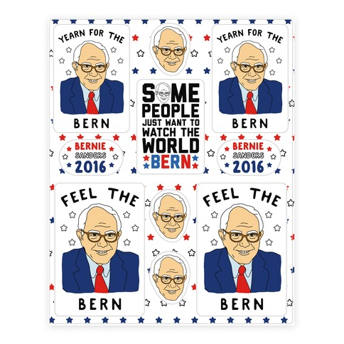 Feel The Bern Sticker and Decal Sheet