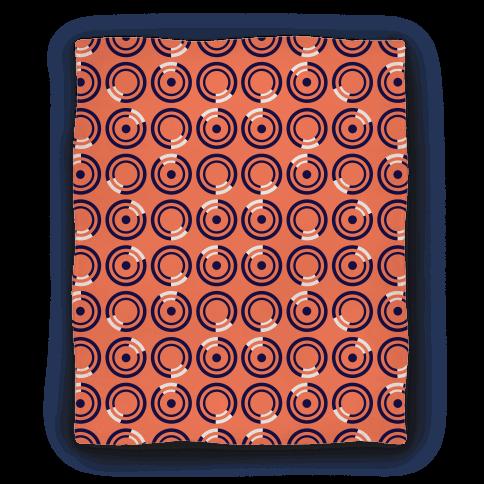 Navy and White Circle Pattern Blanket Blanket