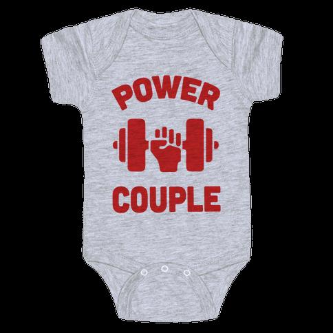 Power Couple Baby Onesy