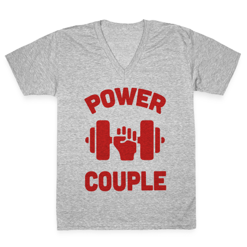 Power Couple V-Neck Tee Shirt