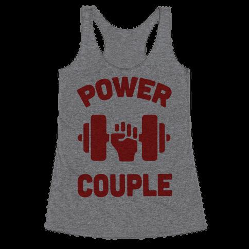 Power Couple Racerback Tank Top