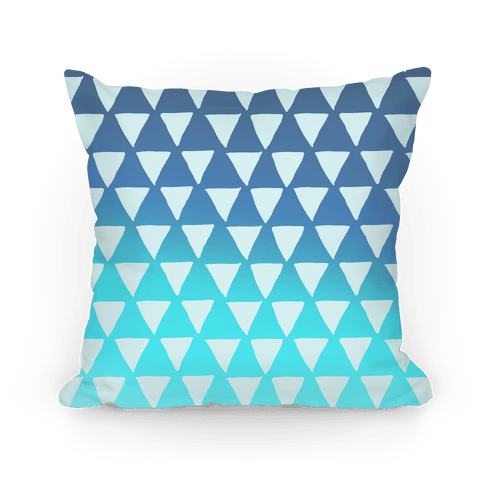 Triangle Blue Ombre Pattern