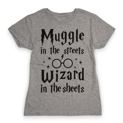 Muggle In The Streets Wizard in Sheets Mens T Shirt Top Potter Fan Gift Idea