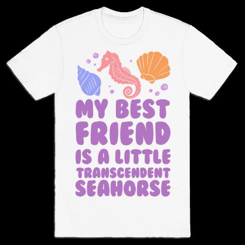 Transcendent Little Seahorse Mens T-Shirt