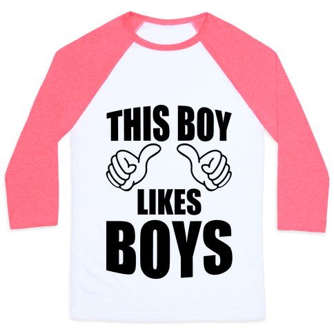 This Boy Likes Boys Baseball Tee