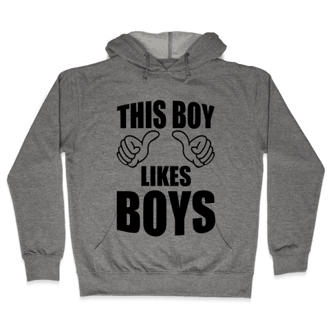 This Boy Likes Boys Hooded Sweatshirt