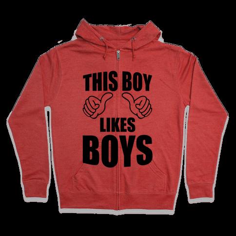 This Boy Likes Boys Zip Hoodie