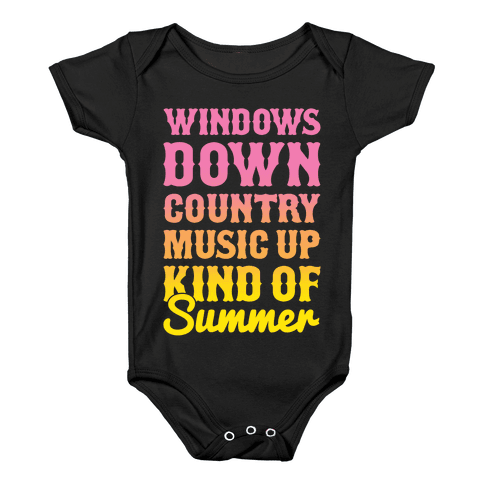 Windows Down Country Music Up Baby Onesy