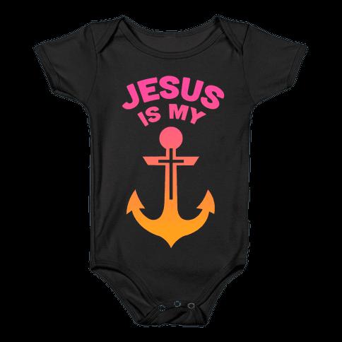 Jesus is My Anchor Baby Onesy