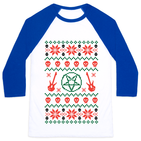 Ugly Sweater Heavy Metal Baseball Tee
