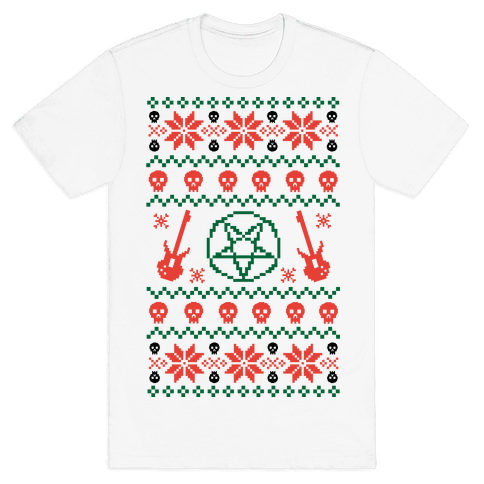 ugly sweater heavy metal - Metal Christmas Sweater