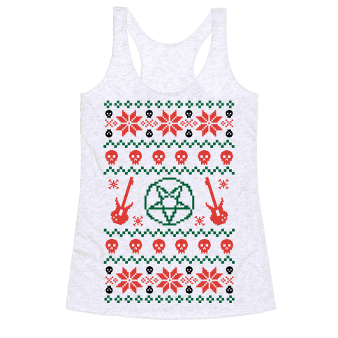 Ugly Sweater Heavy Metal Racerback Tank Top
