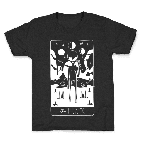 The Loner Tarot Card Kids T-Shirt
