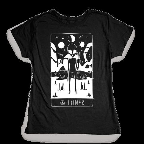 The Loner Tarot Card Womens T-Shirt