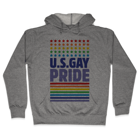USA Gay Pride Hooded Sweatshirt