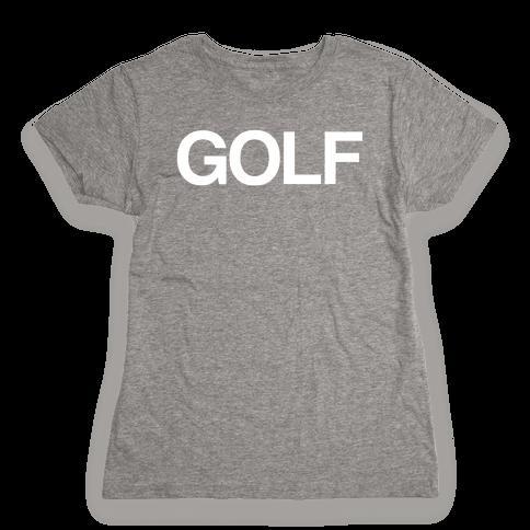 Golf Womens T-Shirt