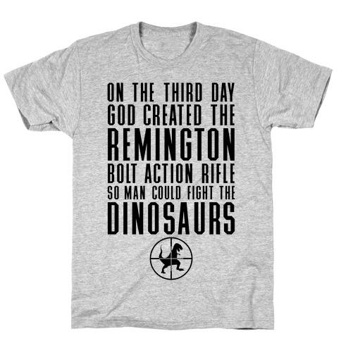 The Remington Bolt Action Rifle Mens T-Shirt
