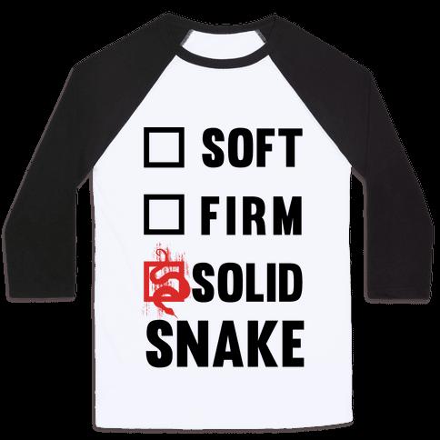 Solid Snake Baseball Tee