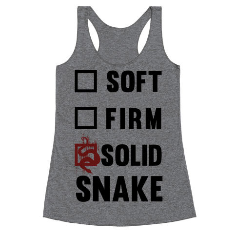 Solid Snake Racerback Tank Top