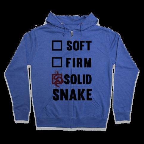 Solid Snake Zip Hoodie