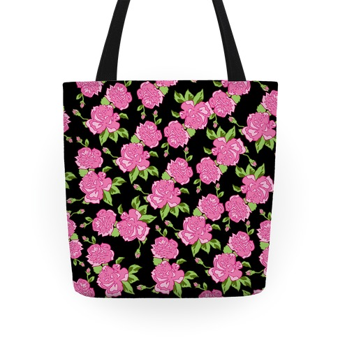 Floral Hipster Pattern Tote