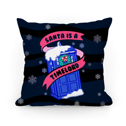 Santa is A Timelord Pillow