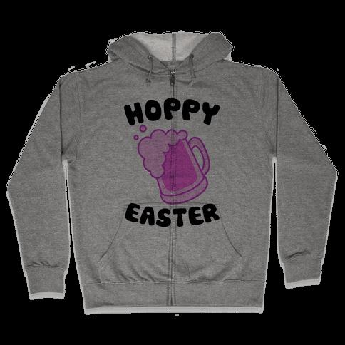 Hoppy Easter Zip Hoodie