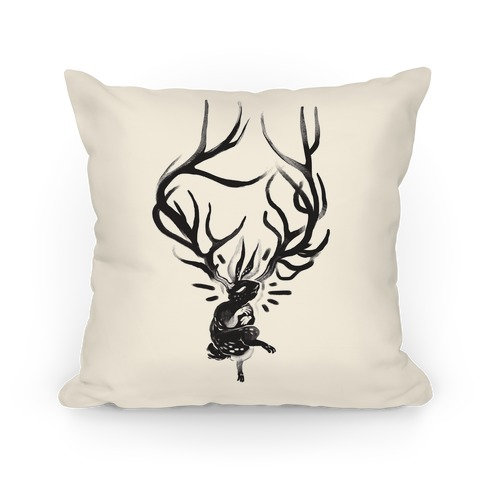 A Jackalope's Lullaby Pillow