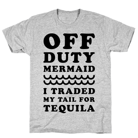 Off Duty Mermaid Mens T-Shirt