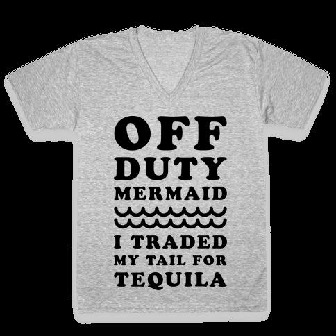 Off Duty Mermaid V-Neck Tee Shirt