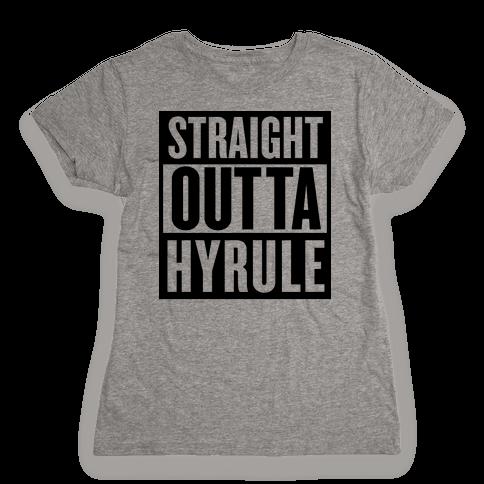Straight Outta Hyrule Womens T-Shirt