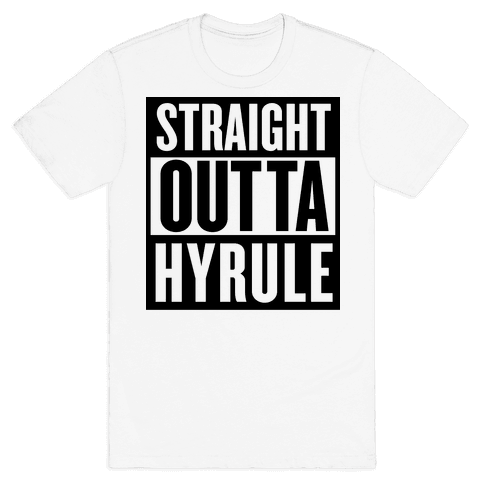 Straight Outta Hyrule Mens T-Shirt