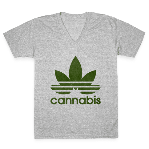 Cannabis V-Neck Tee Shirt