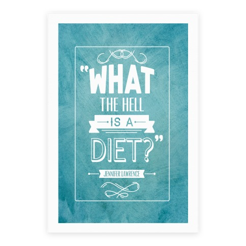 What The Hell Is A Diet Poster