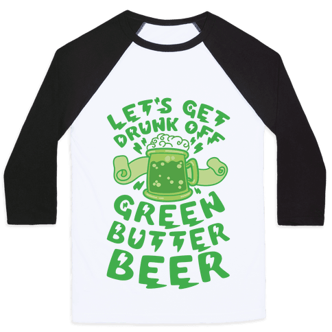 Green Butter Beer Baseball Tee