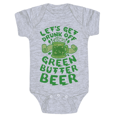 Green Butter Beer Baby Onesy