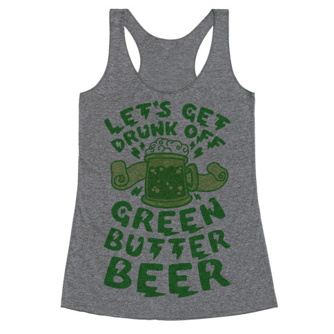 Green Butter Beer Racerback Tank Top