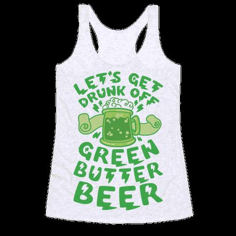 Green Butter Beer Racerback Tank Top