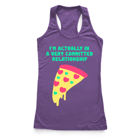 Pizza Relationship Racerback Tank Top