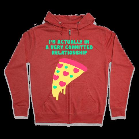 Pizza Relationship Zip Hoodie