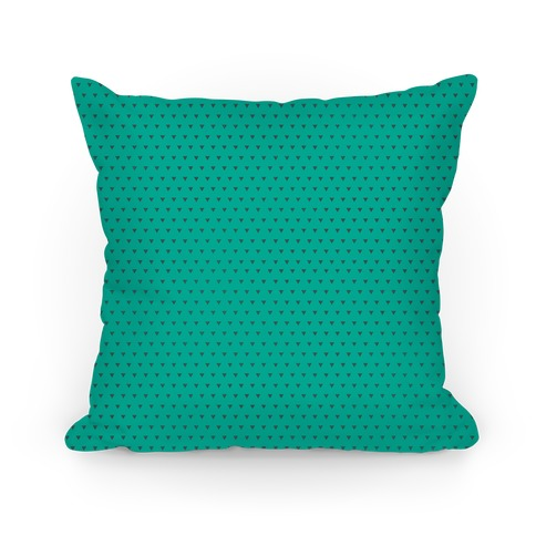 Gray And Teal Triangle Pattern Pillow