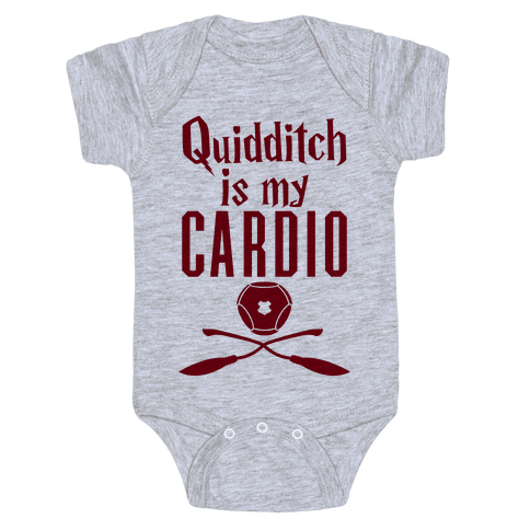 Quidditch Is My Cardio Baby Onesy