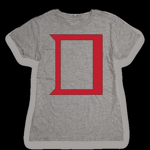 Daring Yellow Devil Logo Womens T-Shirt