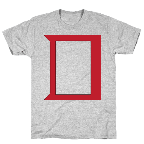 Daring Yellow Devil Logo Mens T-Shirt