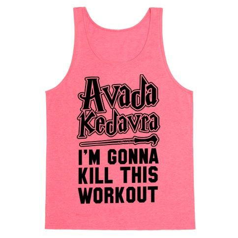 Avada Kedavra Fitness Neon Tank Top