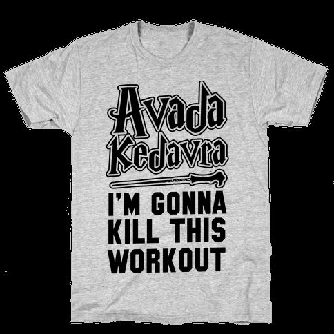 Avada Kedavra Fitness Neon Mens T-Shirt